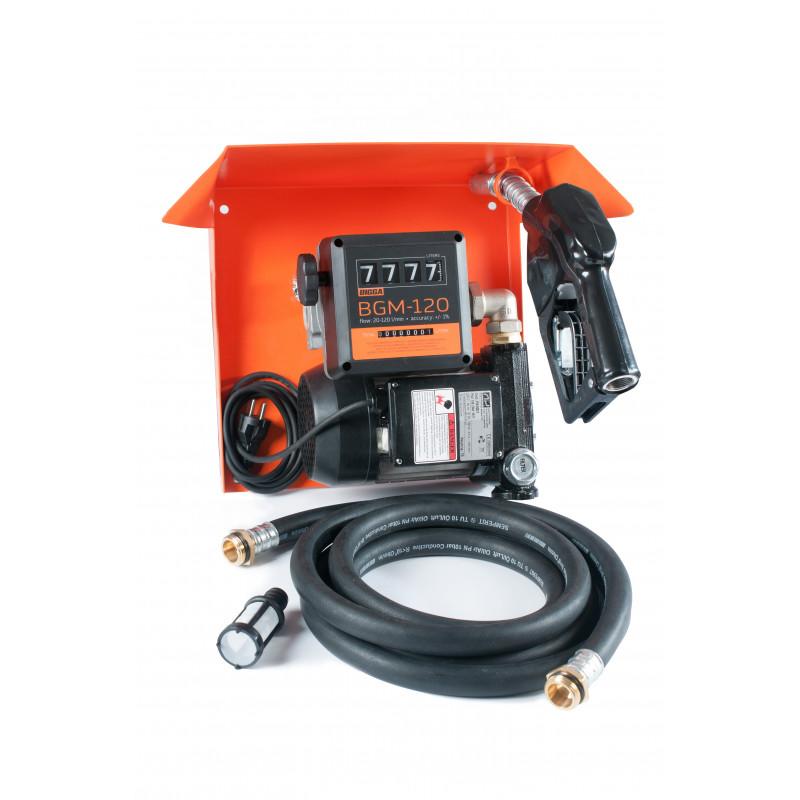 Gamma AC-70 – стационарная мини колонка для дизельного топлива с расходомером / Автоматический пистолет, системы GPS мониторинга - изображение 1