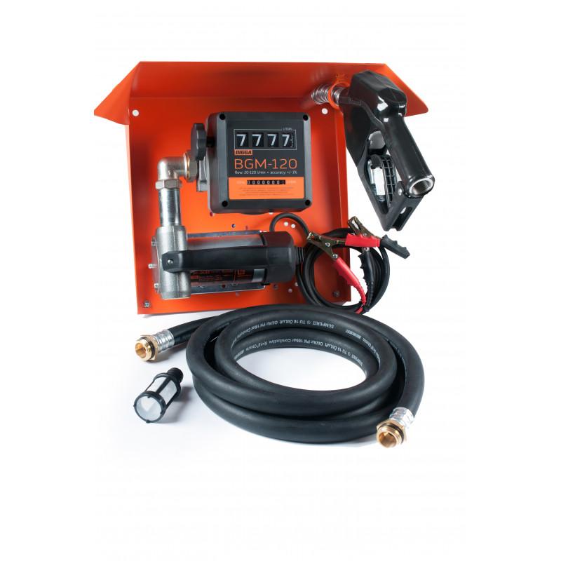 Gamma DC/AC-65 - Мобильная заправочная станция для диз.топлива с расходомером / Автоматический пистолет, системы GPS мониторинга - изображение 1
