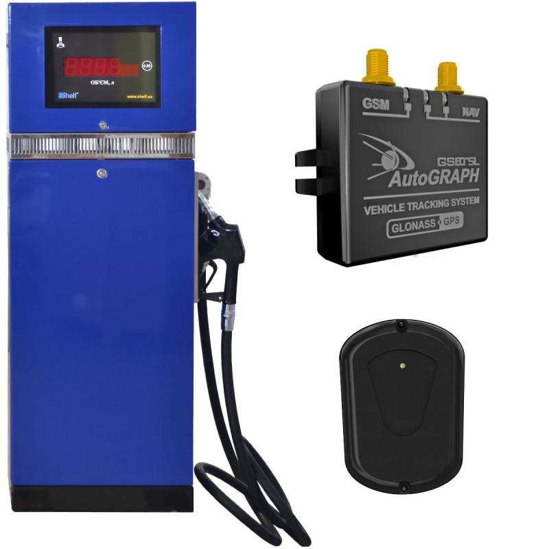 Колонка топливораздаточная Шельф 100V-90 с заправкой по карте доступа и лимитизацией, системы GPS мониторинга - изображение 1